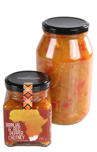 Brinjal and Red Pepper Chutney Large small